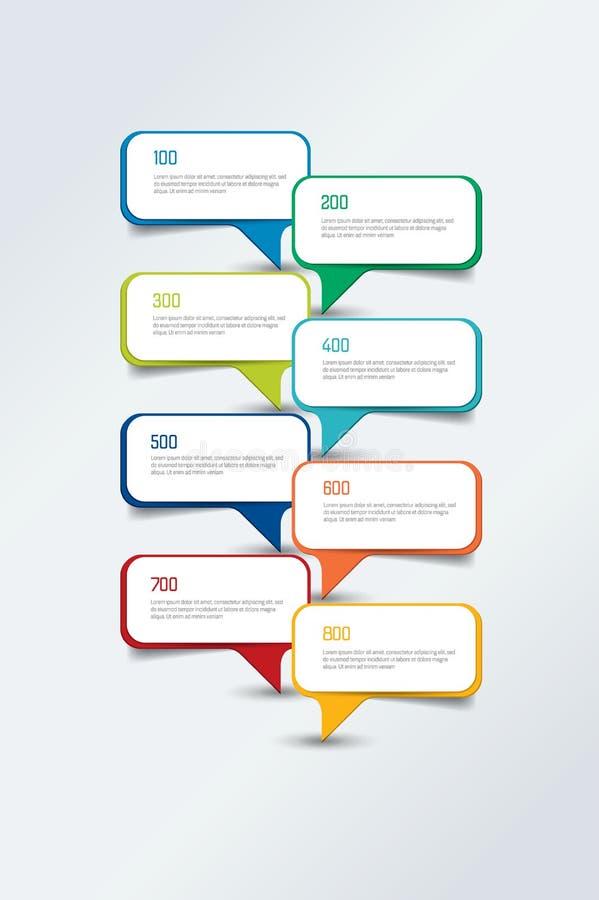 Έκθεση υπόδειξης ως προς το χρόνο Infographic, πρότυπο, διάγραμμα, σχέδιο Κενοί τομείς κειμένων απεικόνιση αποθεμάτων