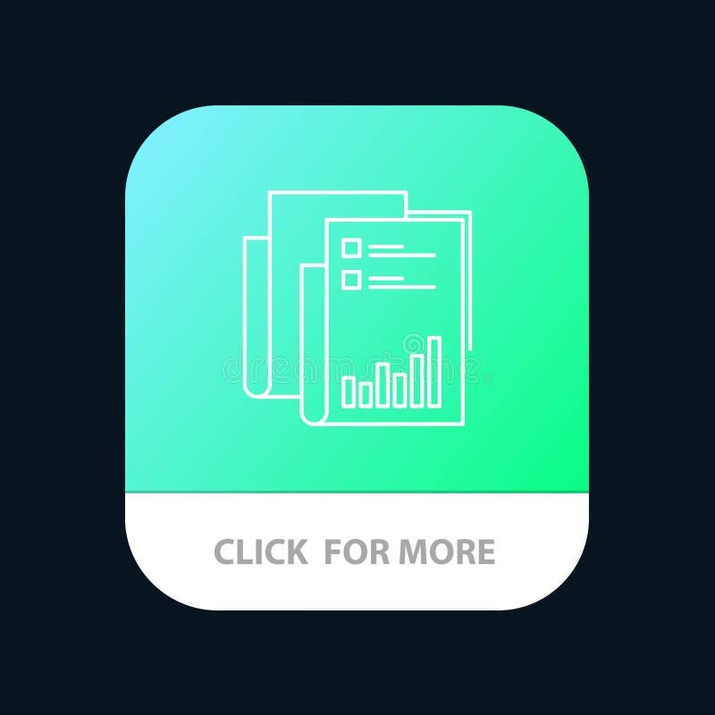Έκθεση, Analytics, λογιστικός έλεγχος, επιχείρηση, στοιχεία, μάρκετινγκ, κινητό App κουμπί εγγράφου Έκδοση αρρενωπών και IOS γραμ απεικόνιση αποθεμάτων