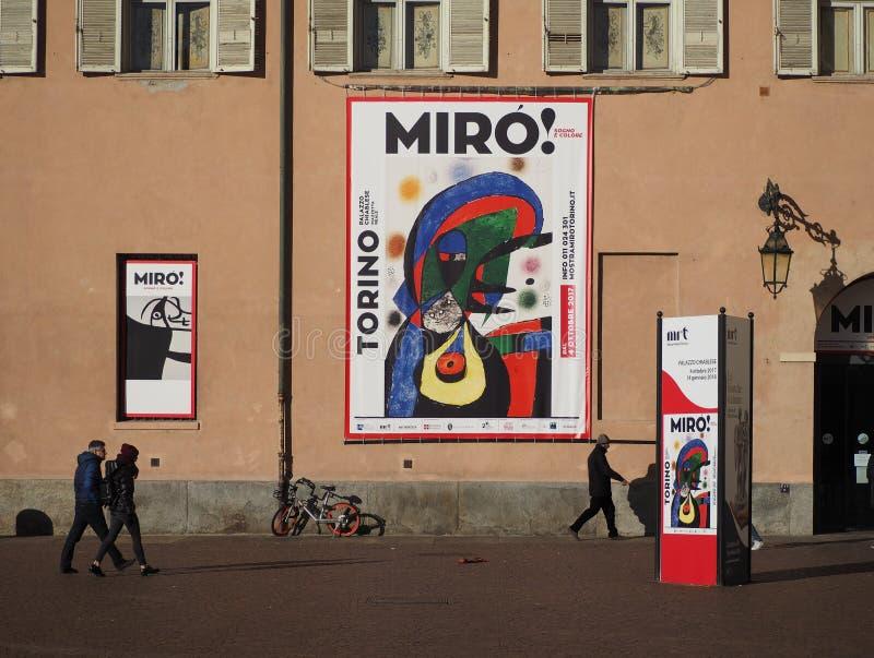 Έκθεση Miro σε Palazzo Chiablese στο Τορίνο στοκ φωτογραφία
