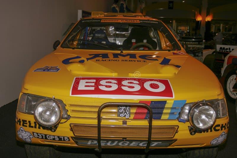 Έκθεση Peugeot των αυτοκινήτων Peugeot στο μουσείο σε Sochaux Γαλλία στοκ φωτογραφία