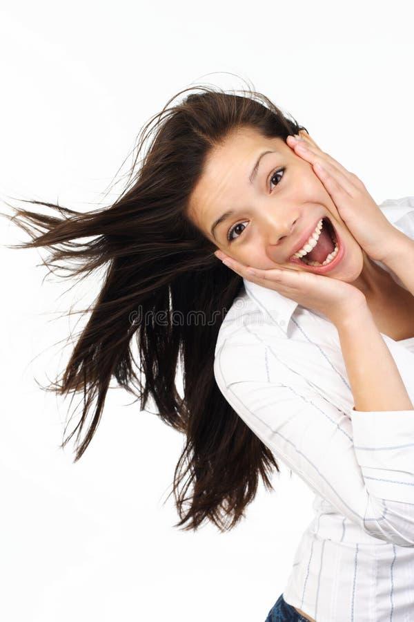 έκπληκτη γυναίκα στοκ εικόνες με δικαίωμα ελεύθερης χρήσης