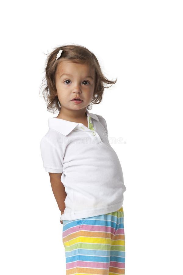 έκπληκτο κορίτσι μικρό παι& στοκ εικόνες