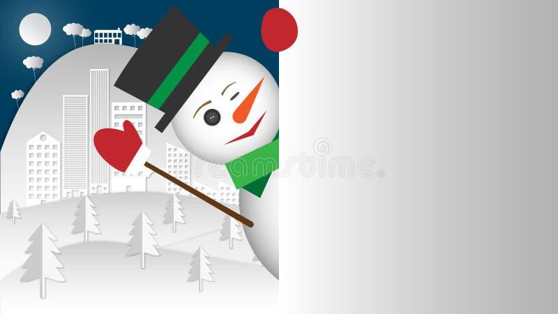 έκπληξη Ο χιονάνθρωπος δεν μπορεί να σταματήσει και σας κλείνοντας το μάτι σε σας στοκ εικόνες
