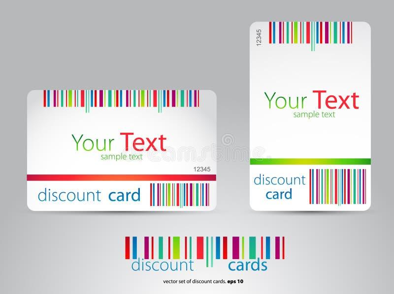 έκπτωση καρτών διανυσματική απεικόνιση
