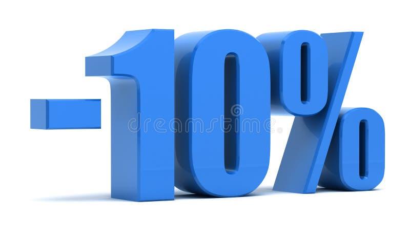 έκπτωση 10 τοις εκατό απεικόνιση αποθεμάτων