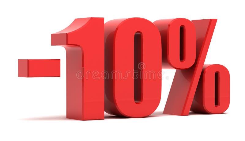 έκπτωση 10 τοις εκατό διανυσματική απεικόνιση
