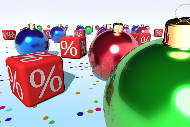 έκπτωση Χριστουγέννων απεικόνιση αποθεμάτων