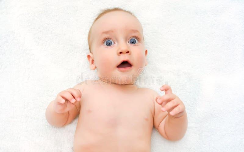 Έκπληκτο να βρεθεί μωρών στοκ φωτογραφία με δικαίωμα ελεύθερης χρήσης