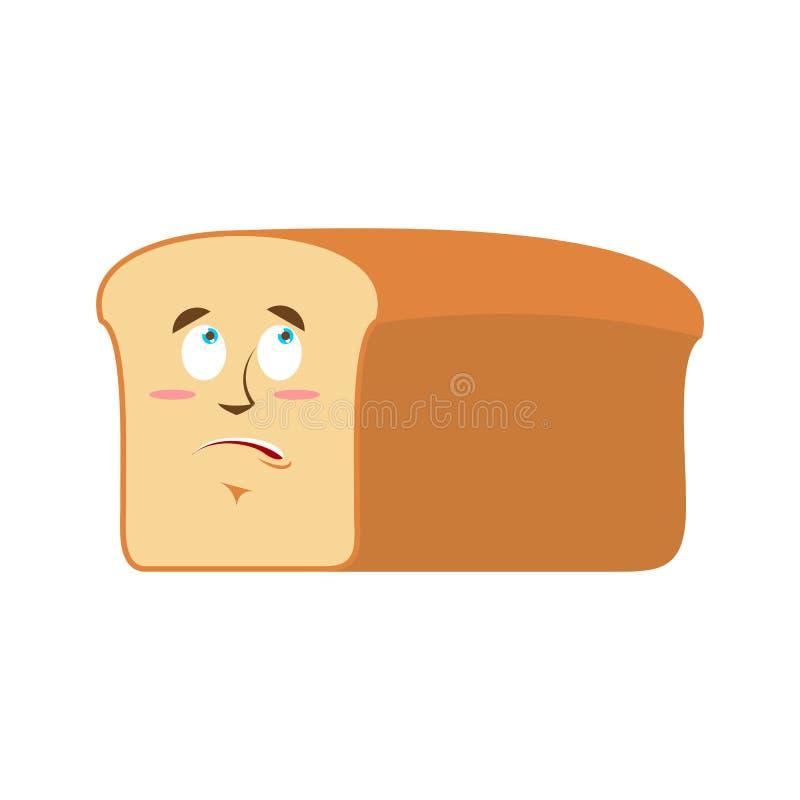 Έκπληκτο ψωμί Emoji το κομμάτι έκπληκτης της ψωμί συγκίνησης απομονώνει ελεύθερη απεικόνιση δικαιώματος