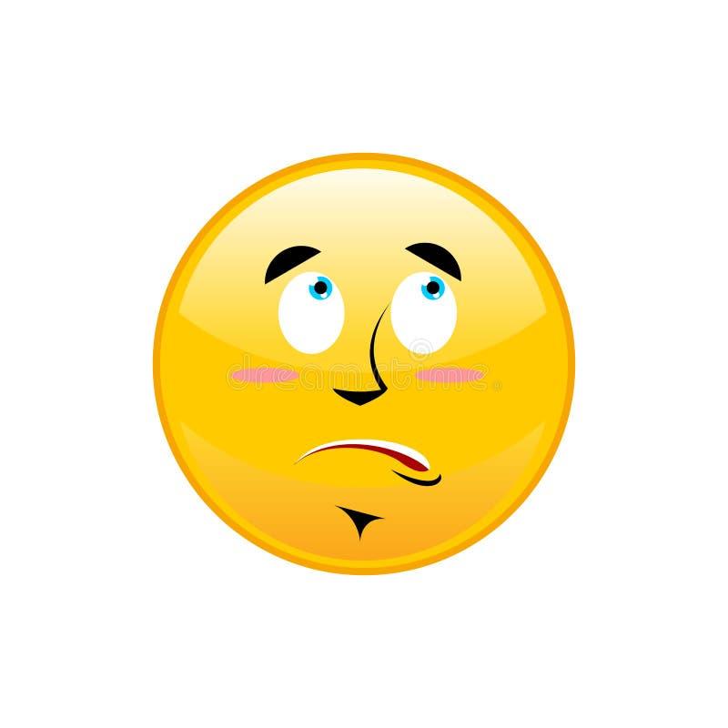 Έκπληκτο Emoji που απομονώνεται έκπληκτο κίτρινο isola συγκίνησης κύκλων ελεύθερη απεικόνιση δικαιώματος