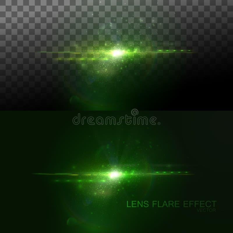 Έκρηξη ήλιων σπινθηρίσματος διανυσματική απεικόνιση