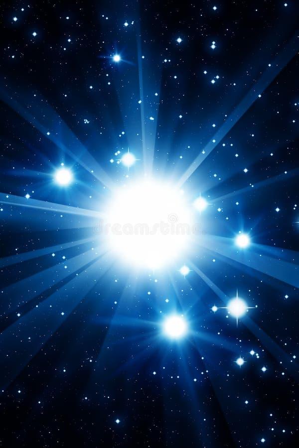 Έκρηξη αστεριών σουπερνοβών διανυσματική απεικόνιση