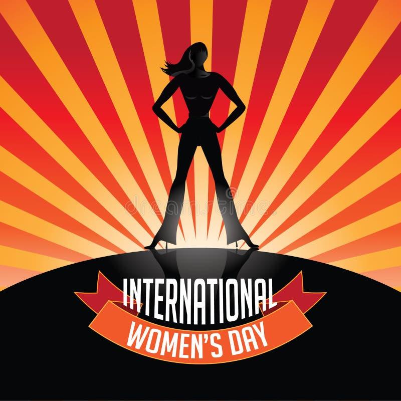 Έκρηξη ημέρας των διεθνών γυναικών διανυσματική απεικόνιση