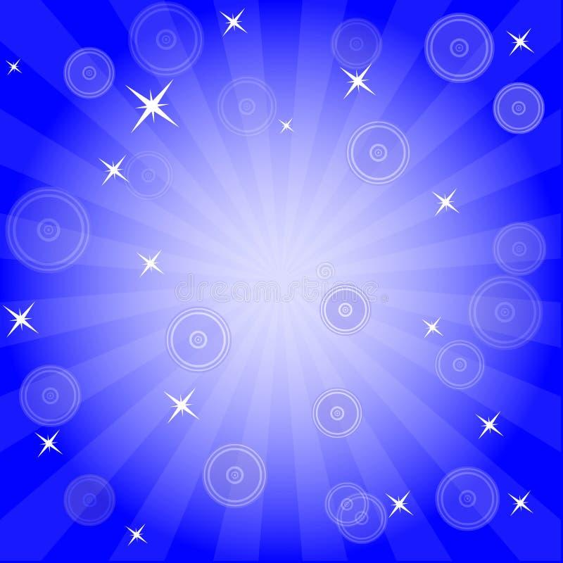 Έκρηξη και ανασκόπηση αστεριών διανυσματική απεικόνιση