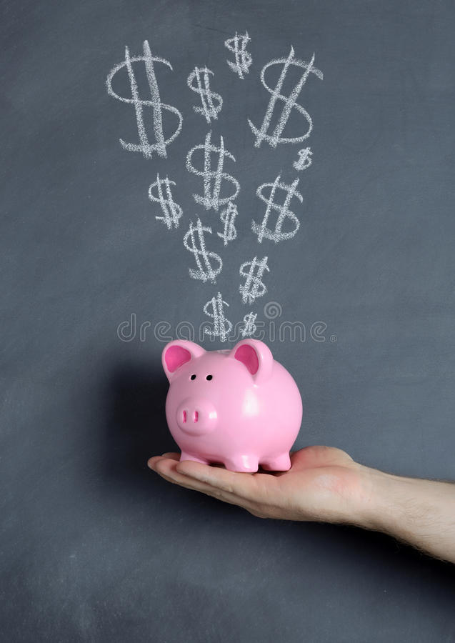Έκρηξη δολαρίων τραπεζών Piggy στοκ εικόνα με δικαίωμα ελεύθερης χρήσης
