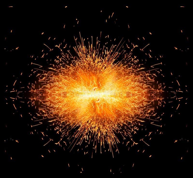 Έκρηξη σπινθήρων! στοκ φωτογραφίες