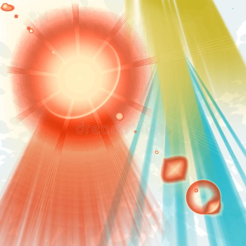 Έκρηξη της ηλιοφάνειας ελεύθερη απεικόνιση δικαιώματος