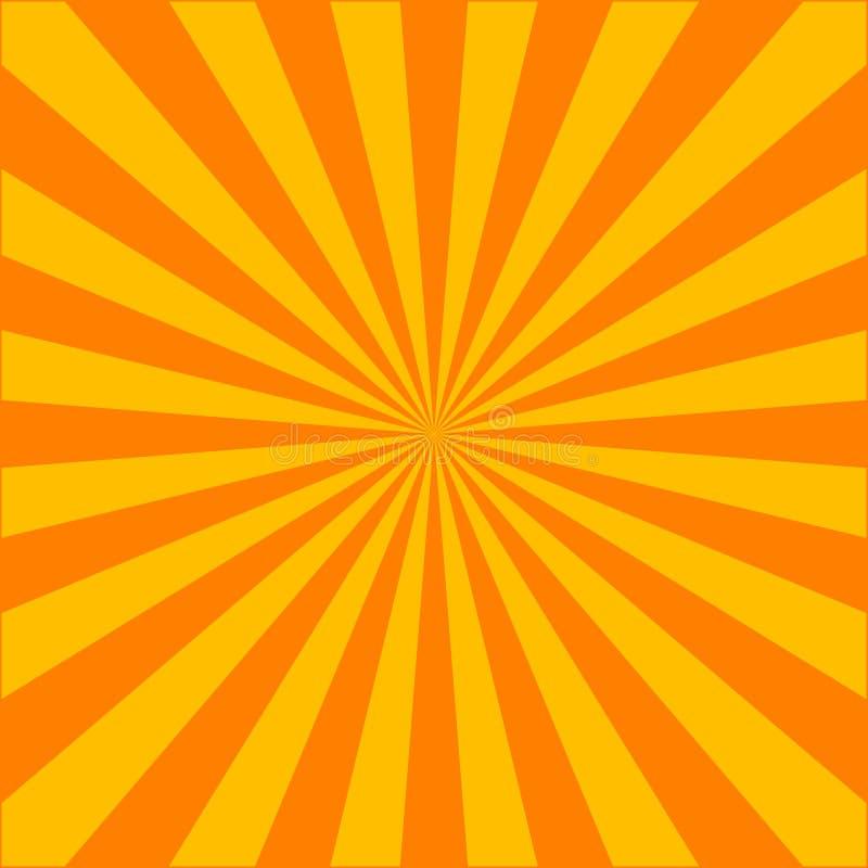 Έκρηξη του Ray διανυσματική απεικόνιση