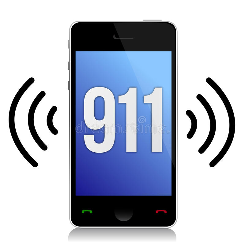 Έκτακτη ανάγκη αριθμός 911 κλήση απεικόνιση αποθεμάτων