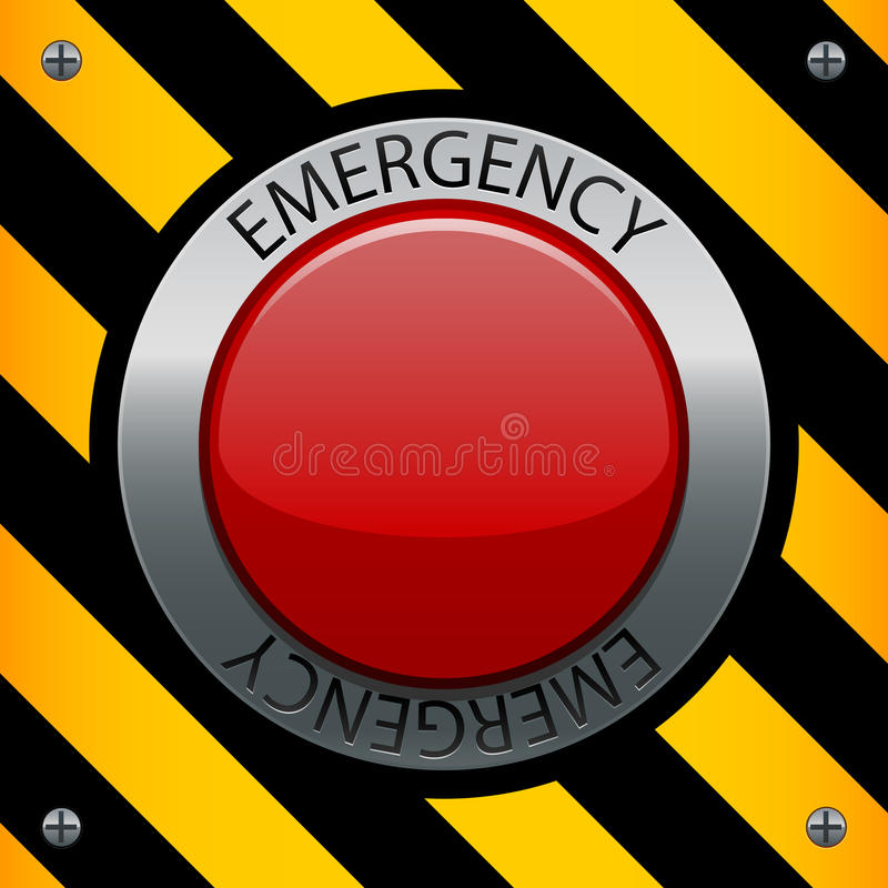 έκτακτη ανάγκη κουμπιών ελεύθερη απεικόνιση δικαιώματος