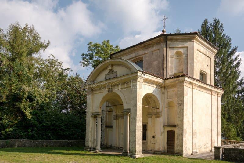 Έκτο παρεκκλησι στο Di Βαρέζε Sacro Monte Ιταλία στοκ φωτογραφίες