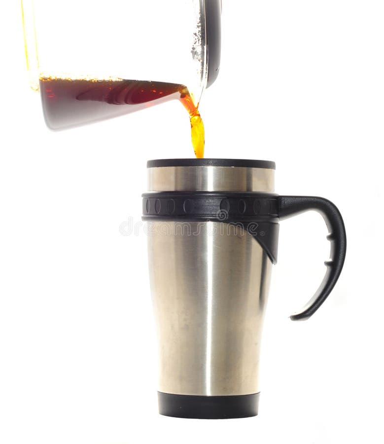 έκχυση καφέ στοκ φωτογραφίες