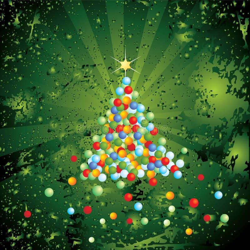 έλατο Χριστουγέννων διανυσματική απεικόνιση