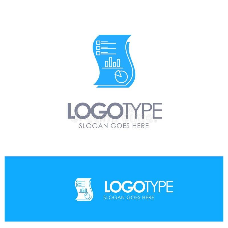 Έλεγχος, Ανάλυση, Επιχειρήσεις, Δεδομένα, Μάρκετινγκ, Χαρτί, Αναφορά μπλε συμπαγούς λογότυπου με θέση για το tagline ελεύθερη απεικόνιση δικαιώματος