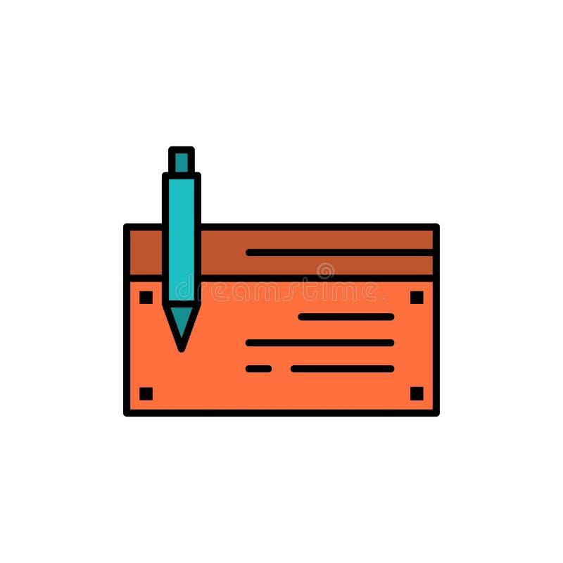 Έλεγχος, απολογισμός, τράπεζα, τραπεζικές εργασίες, χρηματοδότηση, οικονομικός, επίπεδο εικονίδιο χρώματος πληρωμής Διανυσματικό  απεικόνιση αποθεμάτων