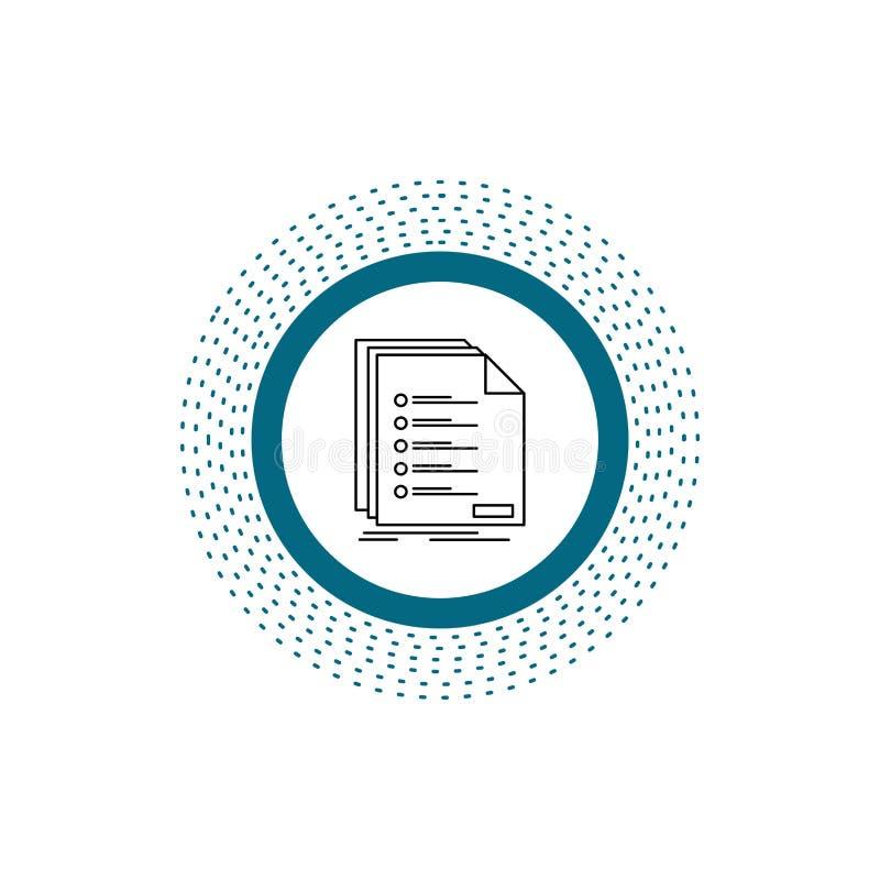 Έλεγχος, αρχειοθέτηση, κατάλογος, λίστα, εικονίδιο γραμμών εγγραφής : απεικόνιση αποθεμάτων