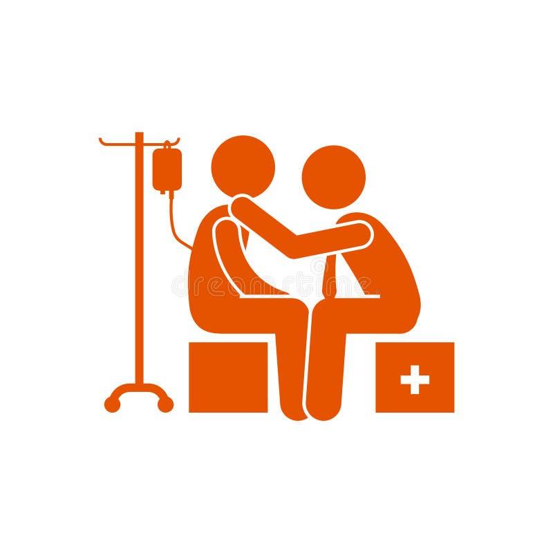 Έλεγχος, γιατρός, υπομονετικό πορτοκαλί εικονίδιο απεικόνιση αποθεμάτων