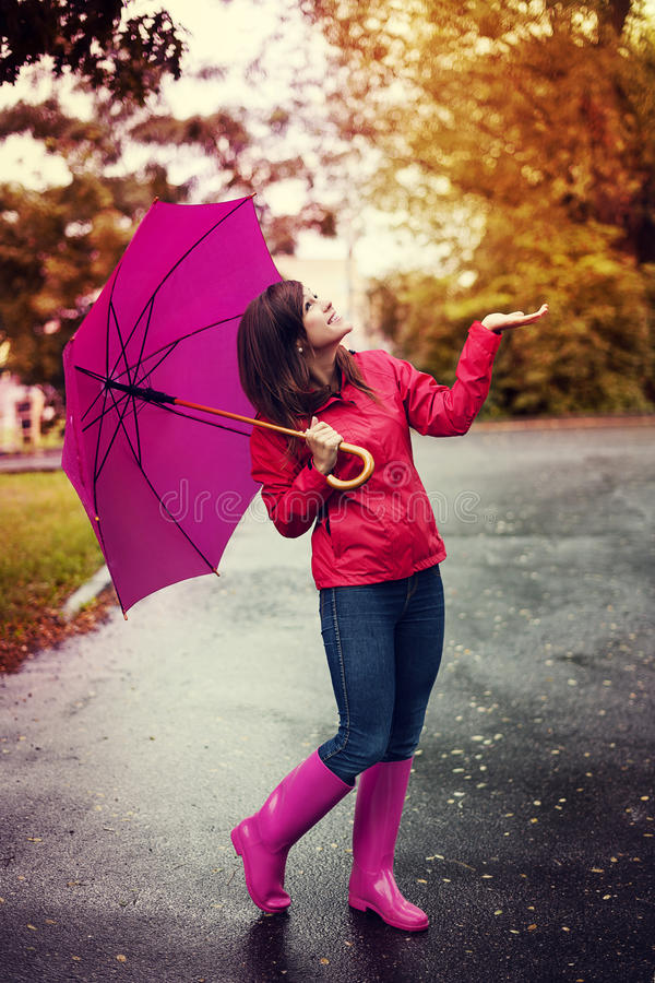 Έλεγχος για τη βροχή στοκ εικόνα