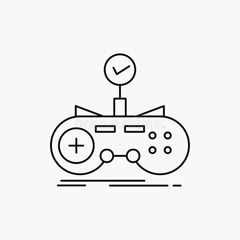 Έλεγχος, ελεγκτής, παιχνίδι, gamepad, εικονίδιο γραμμών τυχερού παιχνιδιού : απεικόνιση αποθεμάτων