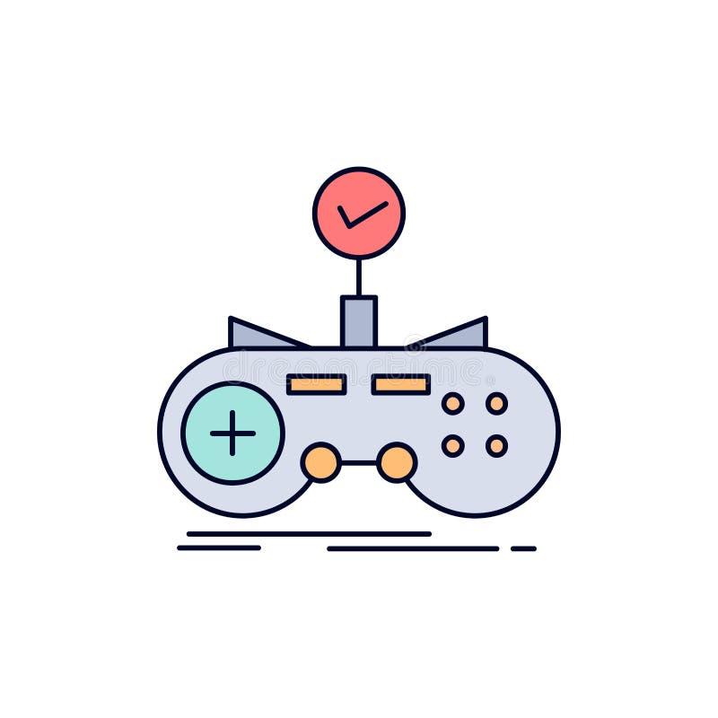 Έλεγχος, ελεγκτής, παιχνίδι, gamepad, επίπεδο διάνυσμα εικονιδίων χρώματος τυχερού παιχνιδιού διανυσματική απεικόνιση