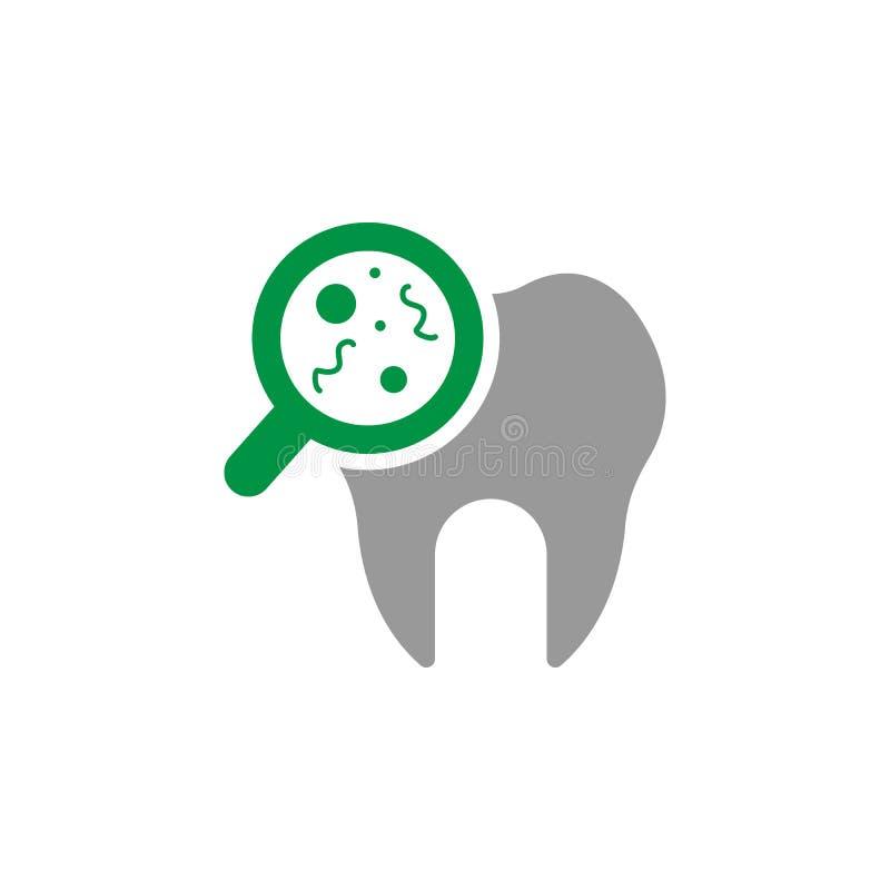 Έλεγχος επάνω και εικονίδιο ρύπου Στοιχείο του οδοντικού εικονιδίου προσοχής για την κινητούς έννοια και τον Ιστό apps Ο λεπτομερ απεικόνιση αποθεμάτων