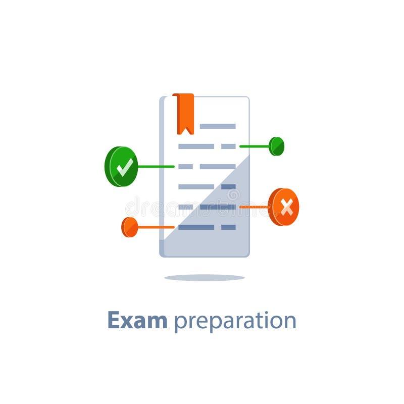 Έλεγχος επάνω στη γραμματική, έκδοση κειμένων, copywriting έννοια, προετοιμασία διαγωνισμών, συνοπτική, δημιουργική ανάγνωση βιβλ διανυσματική απεικόνιση