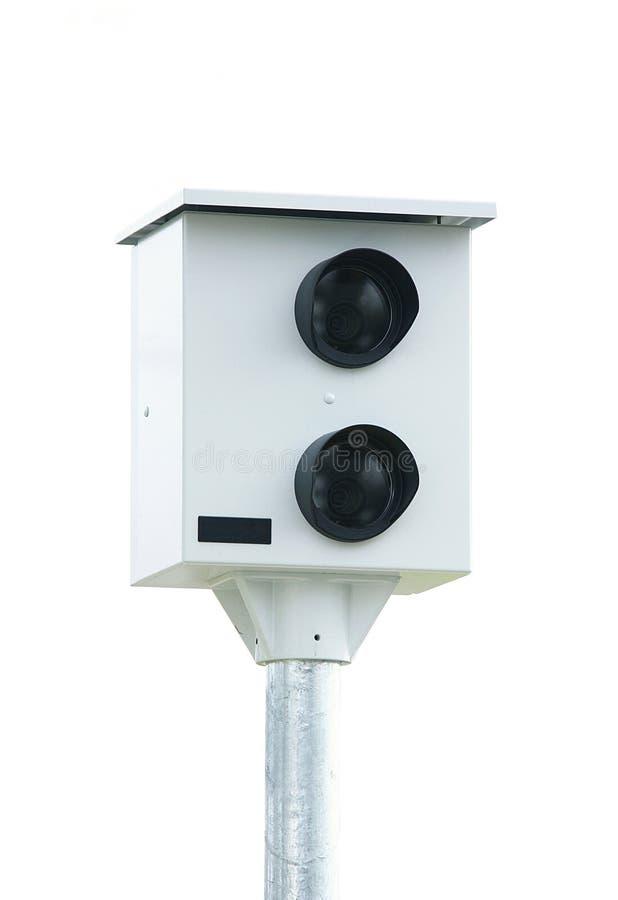 Έλεγχος καμερών ταχύτητας στο άσπρο υπόβαθρο στοκ εικόνες με δικαίωμα ελεύθερης χρήσης