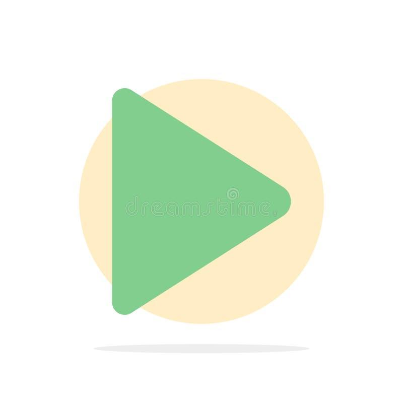 Έλεγχος, μέσα, παιχνίδι, τηλεοπτικό αφηρημένο κύκλων εικονίδιο χρώματος υποβάθρου επίπεδο απεικόνιση αποθεμάτων