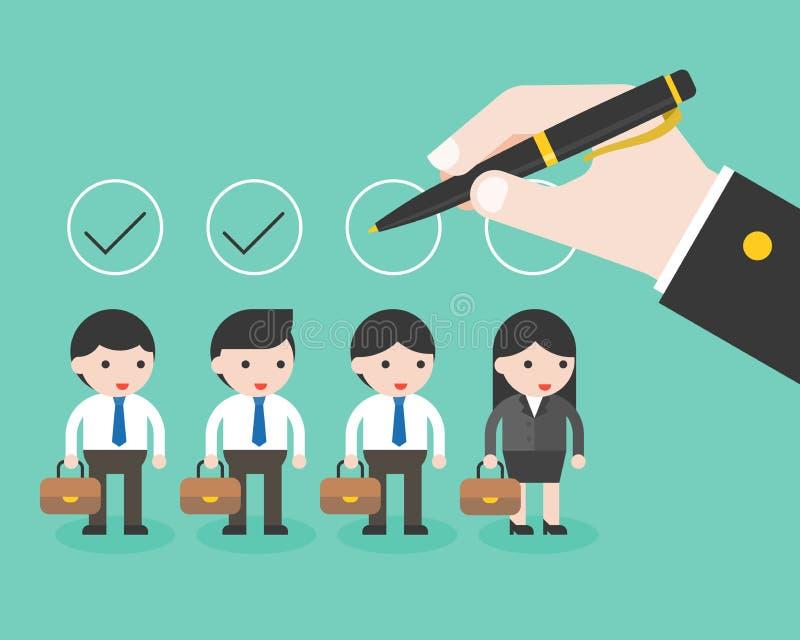 Έλεγχος μανδρών εκμετάλλευσης επιχειρησιακών χεριών στον κύκλο πέρα από την επιχείρηση characte απεικόνιση αποθεμάτων