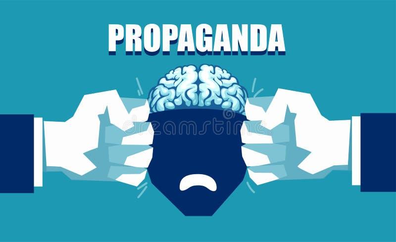 Έλεγχος μυαλού και έννοια προπαγάνδας απεικόνιση αποθεμάτων