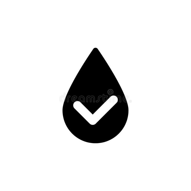 Έλεγχος, πτώση, επίλεκτος, διανυσματικό εικονίδιο νερού r r Έλεγχος, διανυσματική απεικόνιση