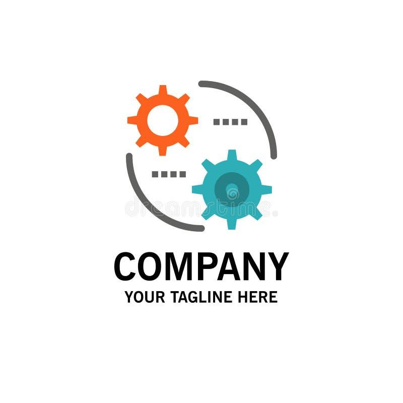 Έλεγχος, ρύθμιση, εργαλείο, πρότυπο επιχειρησιακών λογότυπων ρύθμισης Επίπεδο χρώμα ελεύθερη απεικόνιση δικαιώματος