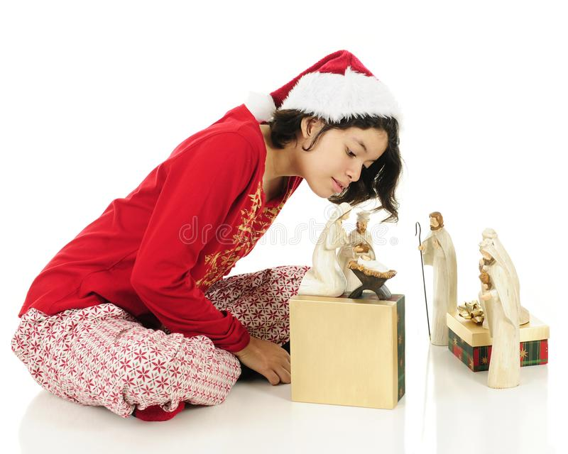 Έλεγχος στο παιδί Χριστού στοκ εικόνες