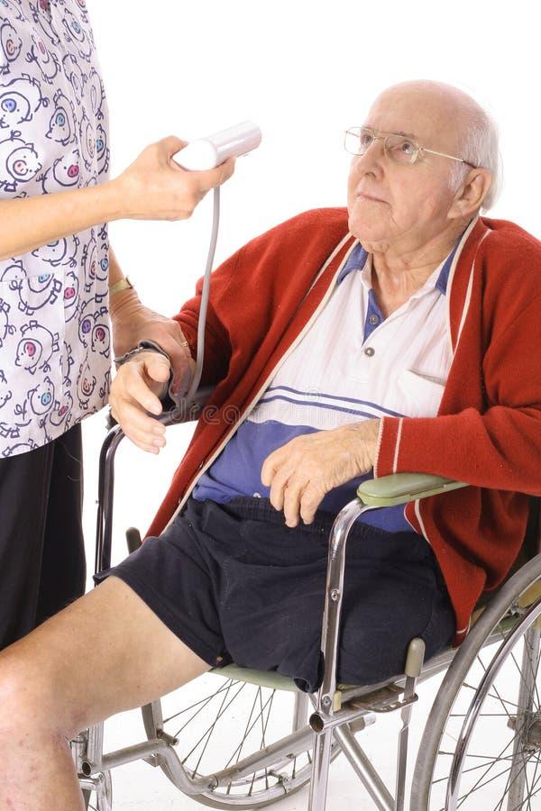 έλεγχος του ατόμου αναπηρίας stats στοκ εικόνα