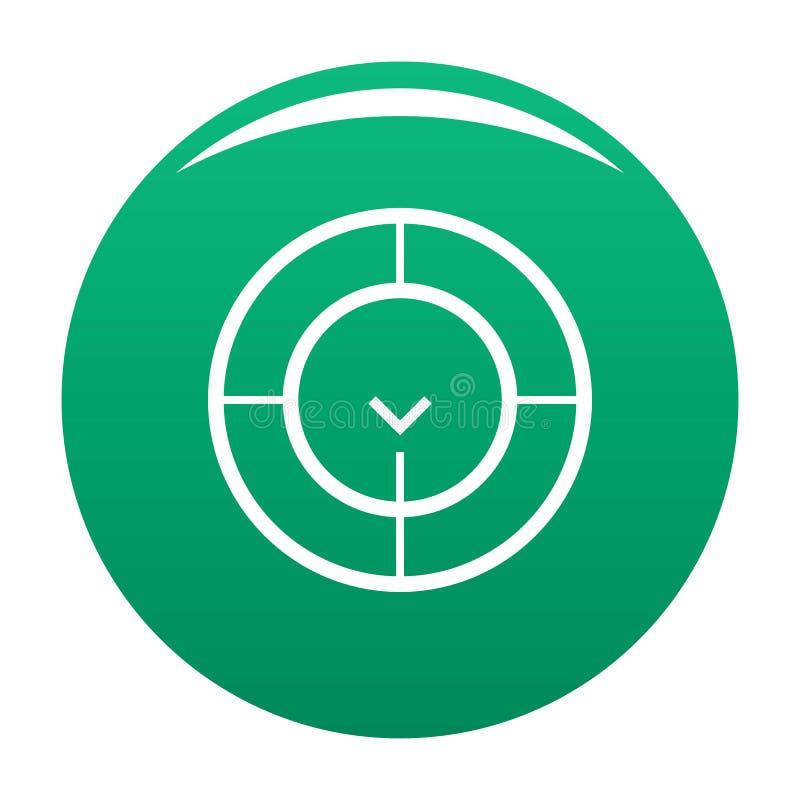 Έλεγχος του εικονιδίου ραντάρ πράσινος απεικόνιση αποθεμάτων
