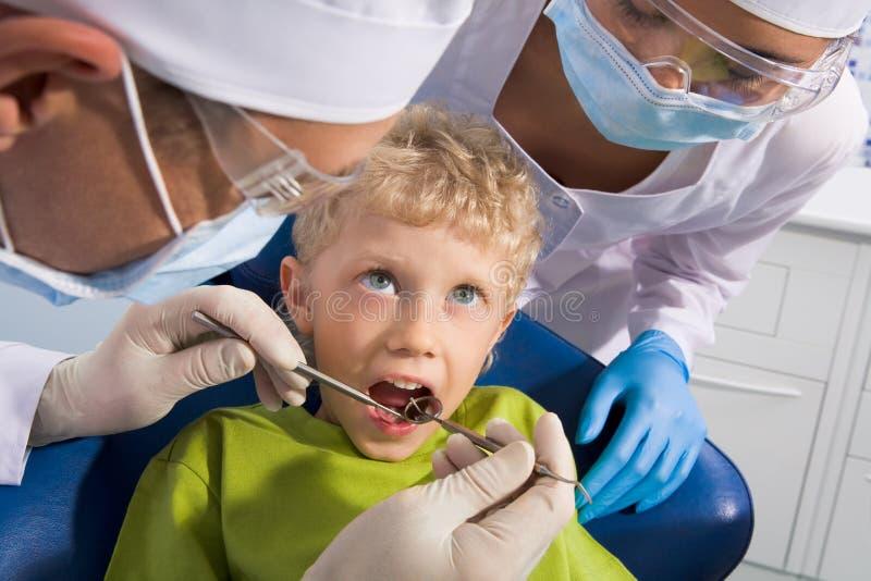 έλεγχος του στόματος στοκ φωτογραφία