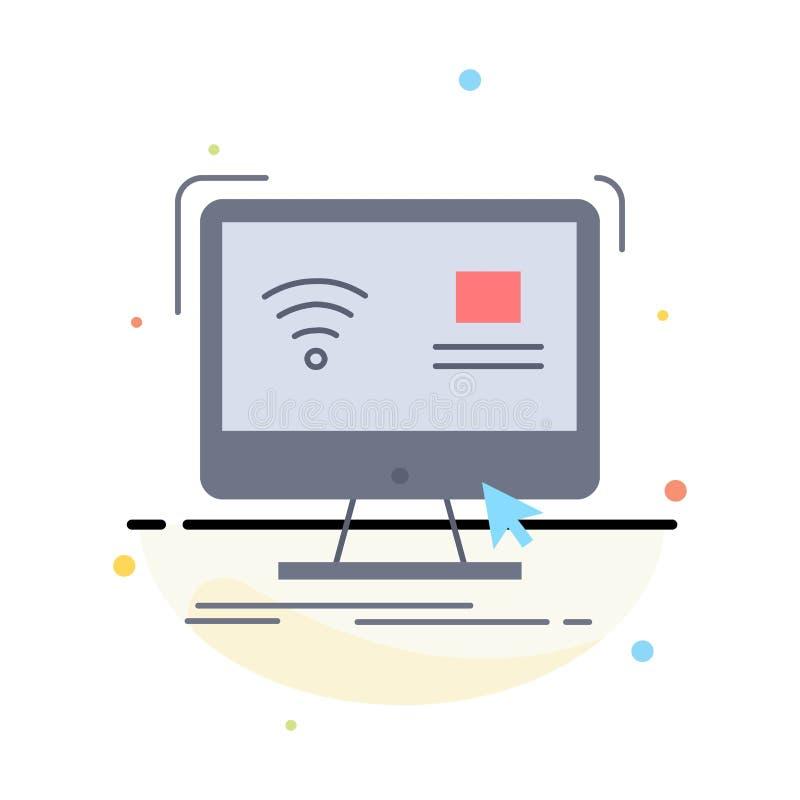 Έλεγχος, υπολογιστής, όργανο ελέγχου, μακρινό, έξυπνο επίπεδο διάνυσμα εικονιδίων χρώματος ελεύθερη απεικόνιση δικαιώματος