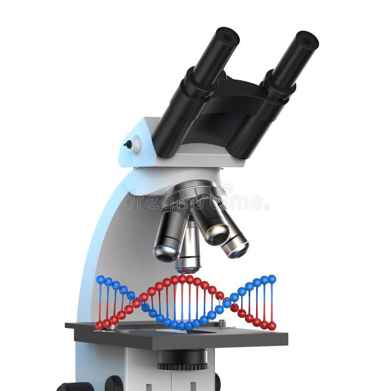 Έλικας DNA στο μικροσκόπιο απεικόνιση αποθεμάτων