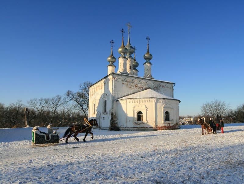 έλκηθρο εκκλησιών στοκ φωτογραφίες