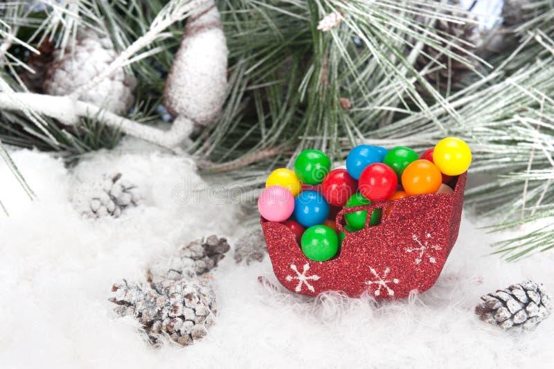 έλκηθρο Χριστουγέννων κ&alpha στοκ φωτογραφία με δικαίωμα ελεύθερης χρήσης